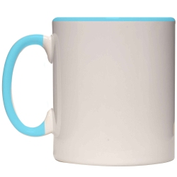 206 Taza Ceramica con borde y asa color 11 oz