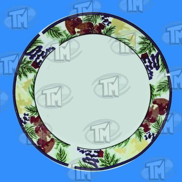 Plato Blanco borde decorado 20 cm.